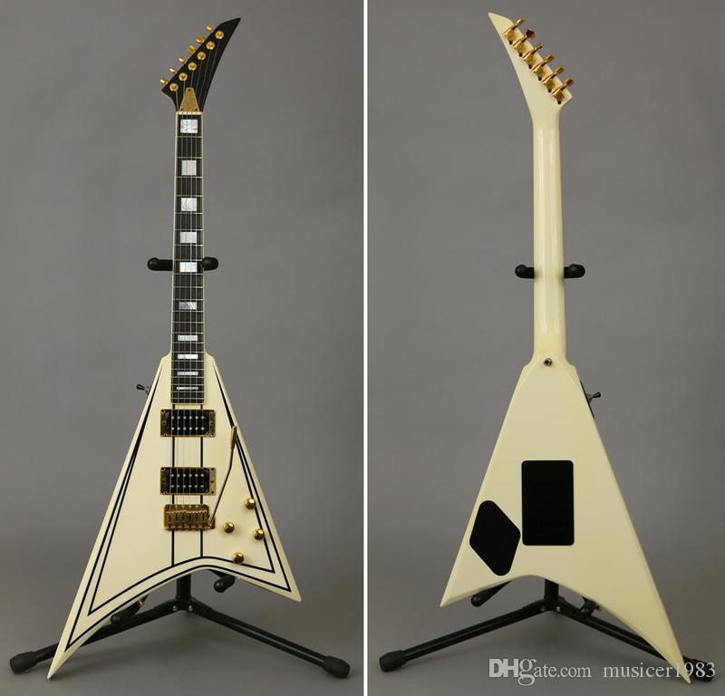 Пользовательские гитары Electric, RandyRhoads белый V, Qulity гитары