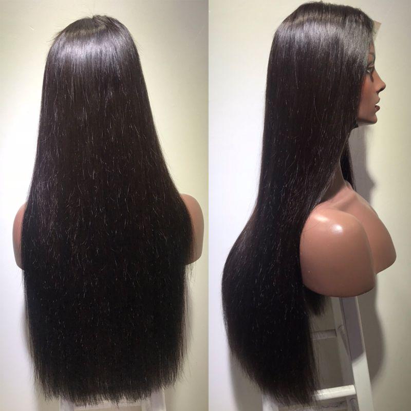 Горячая распродажа длинные прямые волосы парики женщины синтетические дешевые парики средняя бесплатная доставка