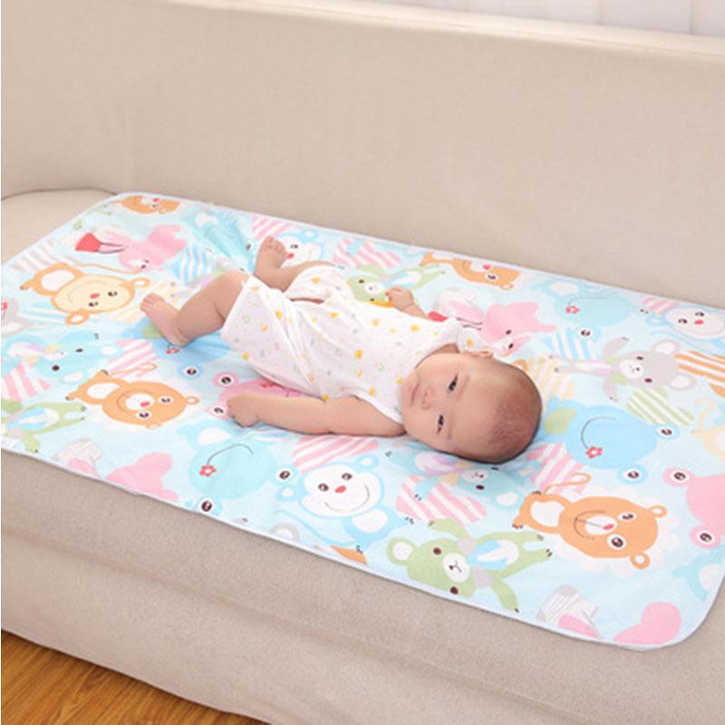 Baby Saeugling Wiederverwendbar Baumwolle Wasserdicht Wickelauflage Windel Matte