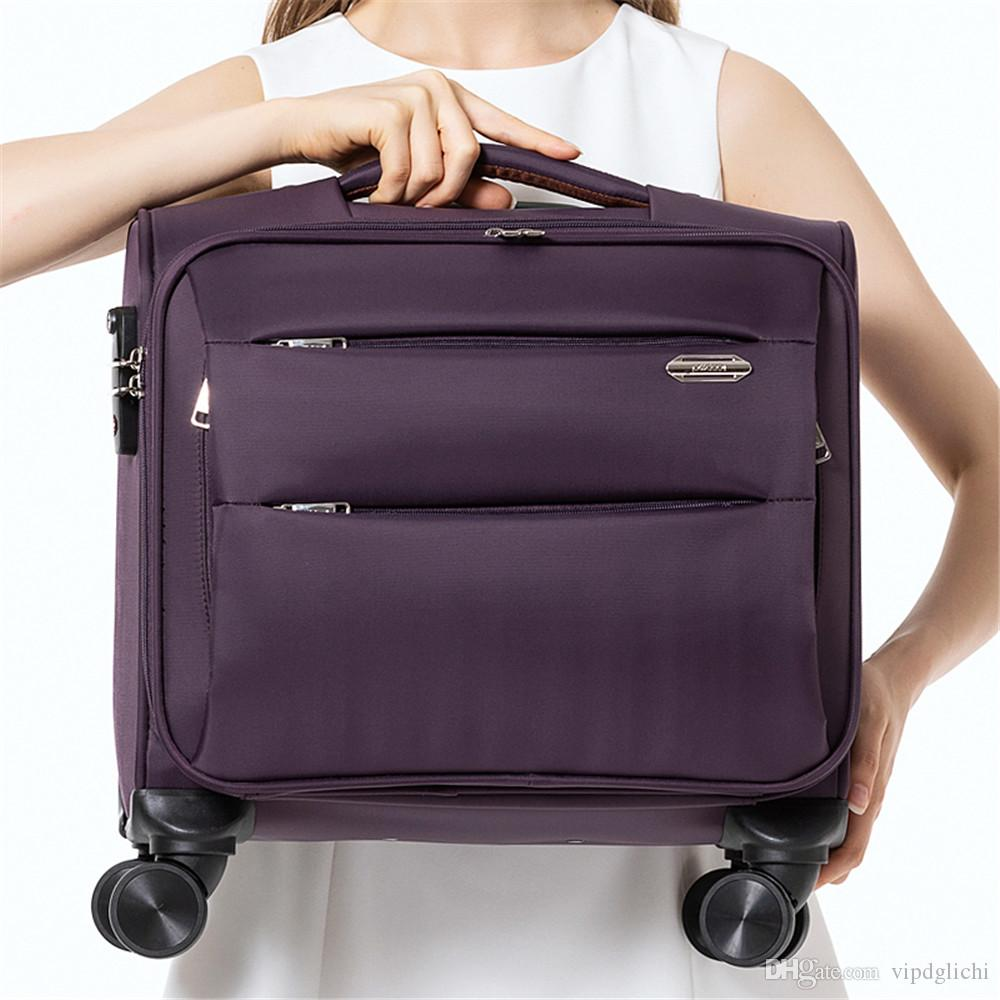 Bagages à roulettes pour hommes Sac de voyage en cabine de 18 pouces Valise Oxford Wheel Wheel Valise Business Trolley