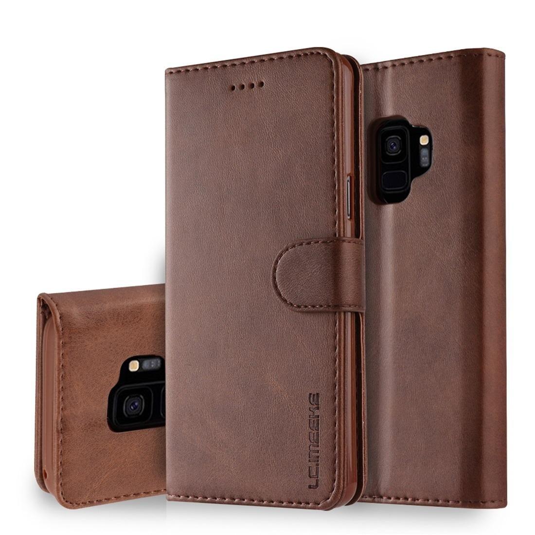 Para Galaxy S9 LC.IMEEKE Calf textura Horizontal Leather Flip Case, com Titular Slots Carteira