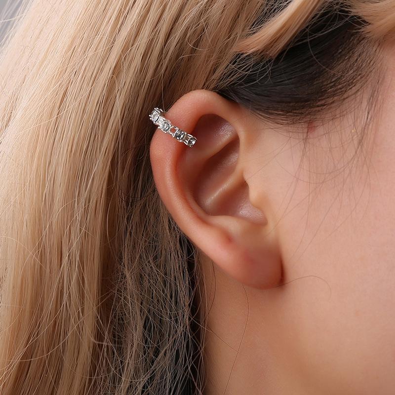 H: orecchini di clip HYDE Oro colore senza Ear Piercing Brinco dell'orecchio del polsino orecchini per le donne gioielli di cristallo boucle d oreille DY