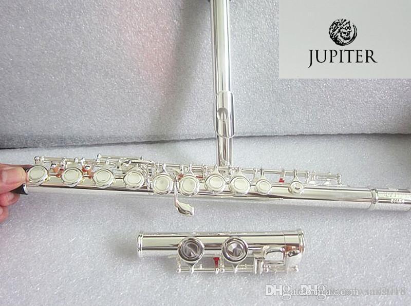 Flauta de plata JUPITER JFL-511ES 16 hoyos Cerrado C flauta clave cuproníquel SILVERING flauta transversal: instrumentos musicale flauta y Caja de disco duro