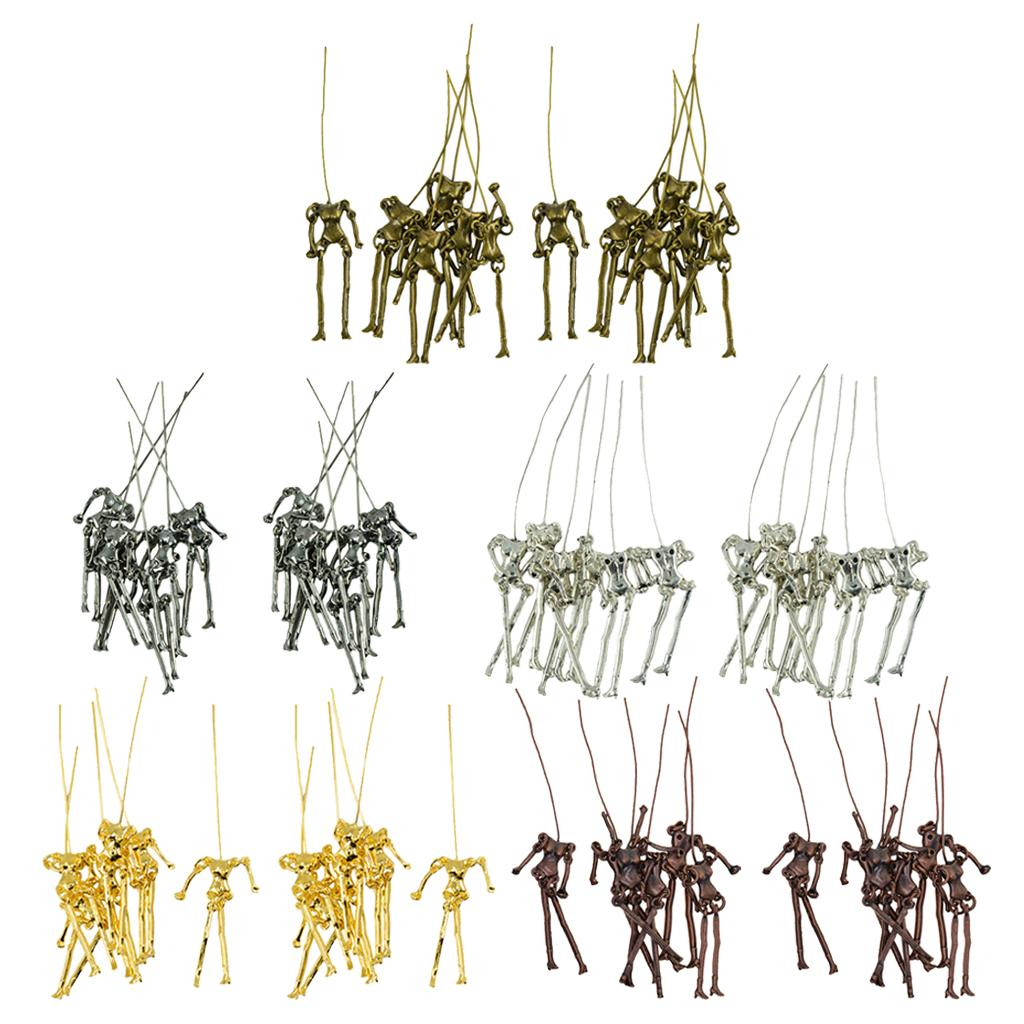60 Sets Mixed Retro Charms Skeleton Body Doll Pendants for DIY Jewelry Findings Fit Necklace Bracelet Girl's Earrings Doll Craft