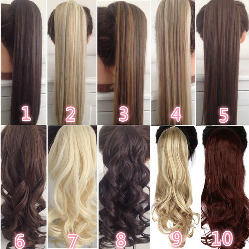 """22"""" Long Curly ClipTail Faux Ponytail Postiche avec Hairpins synthétique Poney Queue Extension de cheveux"""