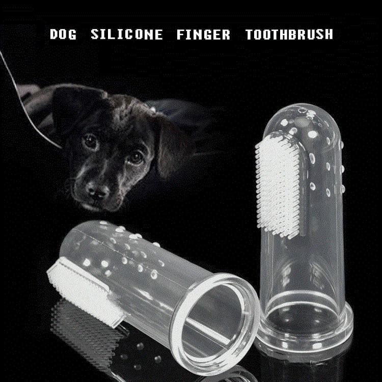 تعيين شفافة سيليكون الحيوانات الأليفة إصبع فرشاة أسنان الكلب والقط إصبع فرشاة أسنان نظيفة مستلزمات الحيوانات الأليفة تنظيف الفم T9I00333