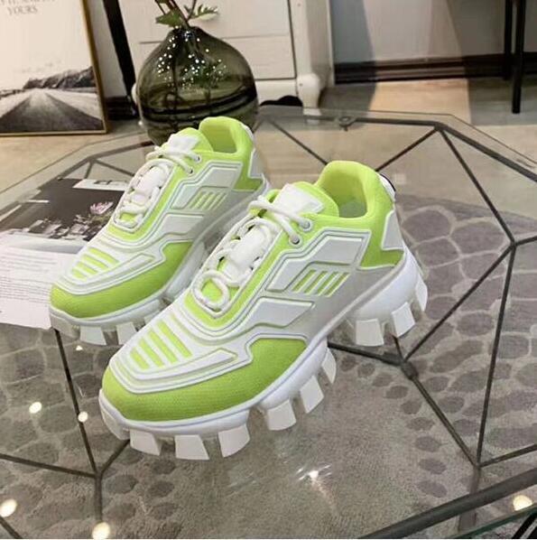 Prada novos homens 2020l quentes sapatos de grife e mulheres sapatos Cloudbust Trovão grife malha das mulheres de grandes dimensões sola de borracha leve 3D c220c ocasional