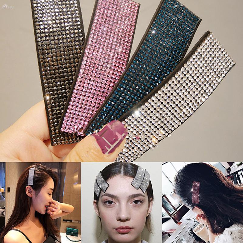 AOMU 1PC Kristallhaar-Clips Glänzende Strass Breite Hairpin HaarBarrettes für Frauen-Mädchen-Partei-Erscheinen-Zubehör