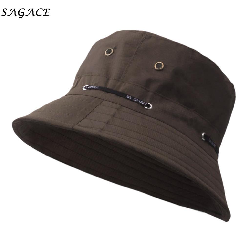 Men Bucket Hat Wide Brim Comfortable Cap Outdoor Women Sunproof Camo Hat