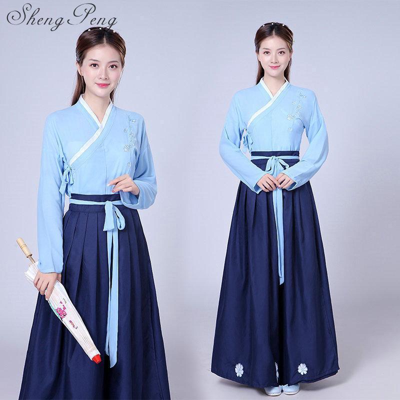 abito Hanfu classica dinastia Tang Nuove antichi cinesi intrattenimento musiche e canzoni palco spettacolo di danza cinese delle donne tradizionali di danza popolare
