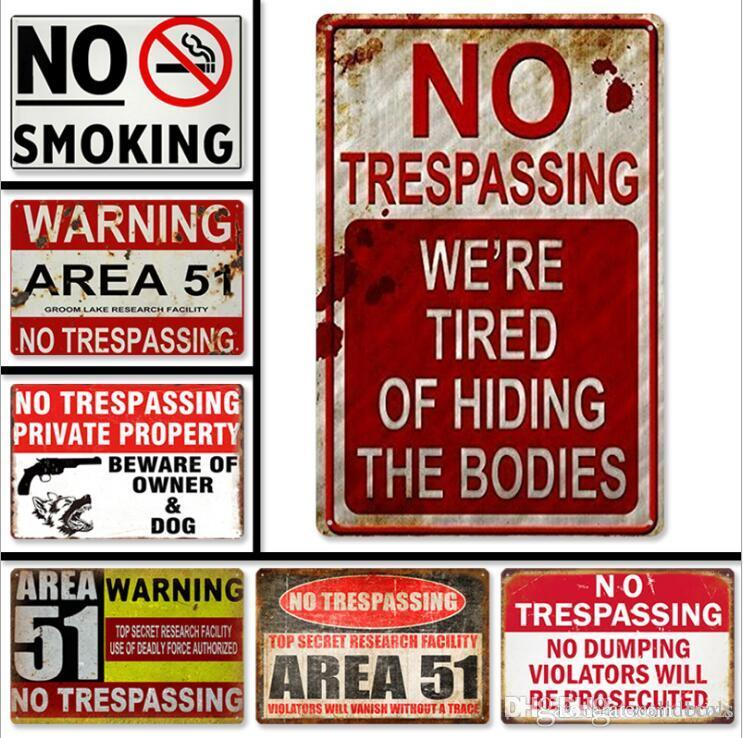 No Entry Private Metal Wall Plaque Art