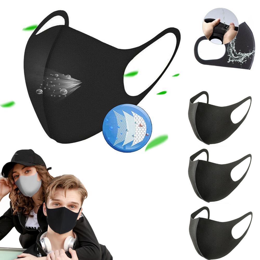 Унисекс против пыли маски для лица Рот Обложки Губки Респиратор Антибактериальная дышащих моющейся многоразовых масок для лица Защитных масок