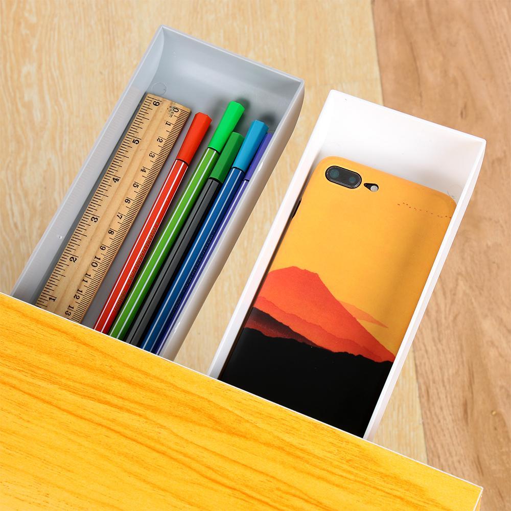 Under Desk Hidden Storage Drawer Pencil Tray Stationery Organizer Self Adhesive