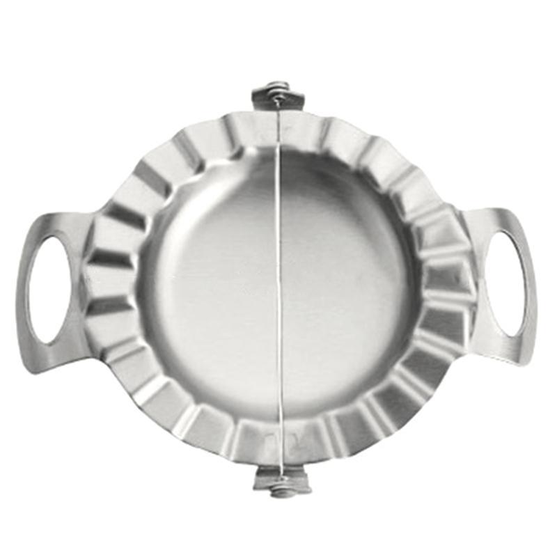 Paslanmaz Dumpling Yapma Makinası Diy 2-in-1 Plaka Basın Pasta Aracı