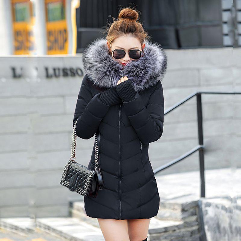 Chaqueta Mujer 여성 다운 재킷 새로운 2019 겨울 재킷 여성 두꺼운 눈 겨울 코트 레이디 의류 여성 재킷 파카 Y190828
