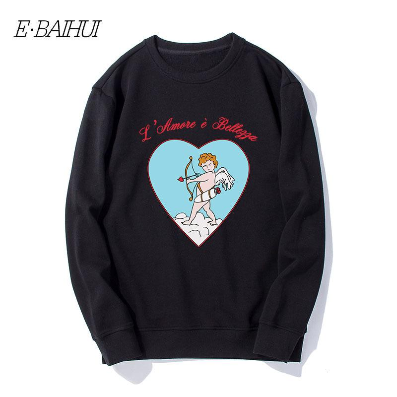 E-Baihui Мужчины пуловер шеи экипажа с длинным рукавом печати Оригинал Mens от конструктора Купидон пуловер Мужчины Открытый Sweatershirt WD-T530 IWXY