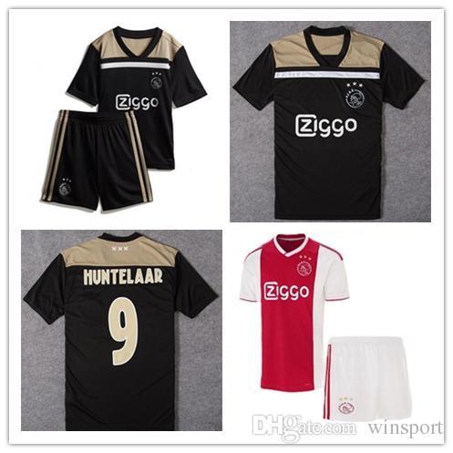 2019 Детский комплект Ajax домашний красный белый Футбольные майки мальчик юношеский Ajax футбол футболка # 10 TADIC # 21 DE JONG # 25 DOLBERG # 22 ZIYEC футбольный комплект