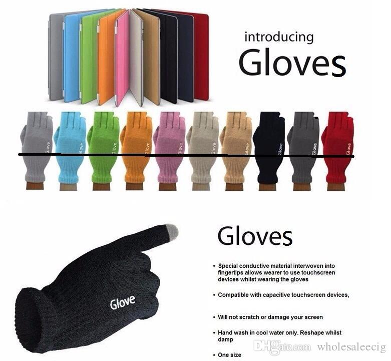 Top Quality Unisex iGlove touch screen capacitivo Guanti Multi Purpose caldi di inverno IGloves guanti per iPhone 7 Samsung s7 2pcs una coppia 2020