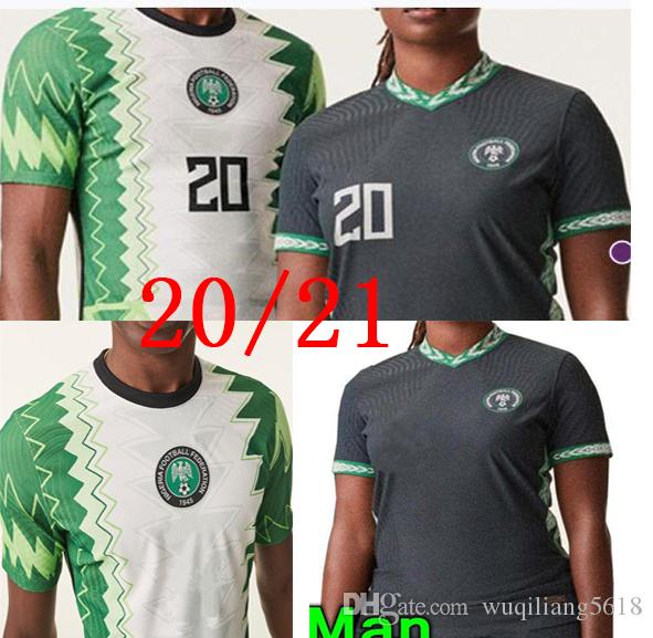 20 21 Okechukwu Okocha Home Away Fussball Jersey 2020 2021 Maillot de Foot Ahmed Musa Mikel Iheanacho Football Hemden
