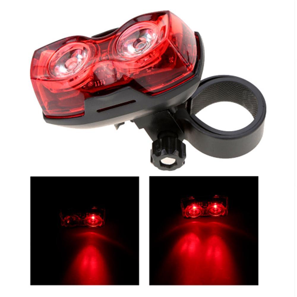 3 Modus Fahrrad Nacht Super Bright Red 2 LED Rückleuchte Fahrrad-Sicherheits-Licht 3 Modi Wasserdicht Bike Zubehör