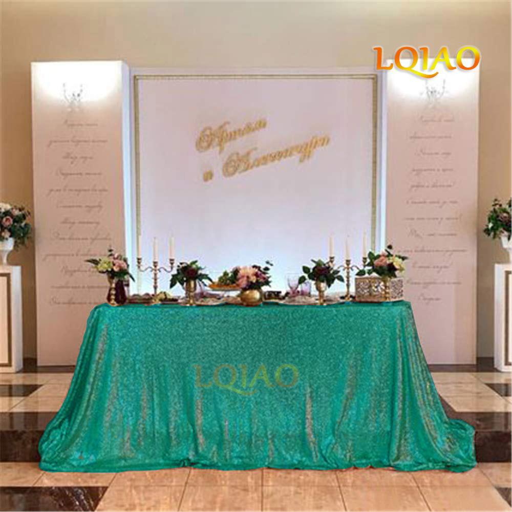 120x200cm Noël vert Sequin Toalha De Nappe Nappe Mesa Rectangle Table Tissu Party Décor de mariage Sequin Couverture Table Y200421