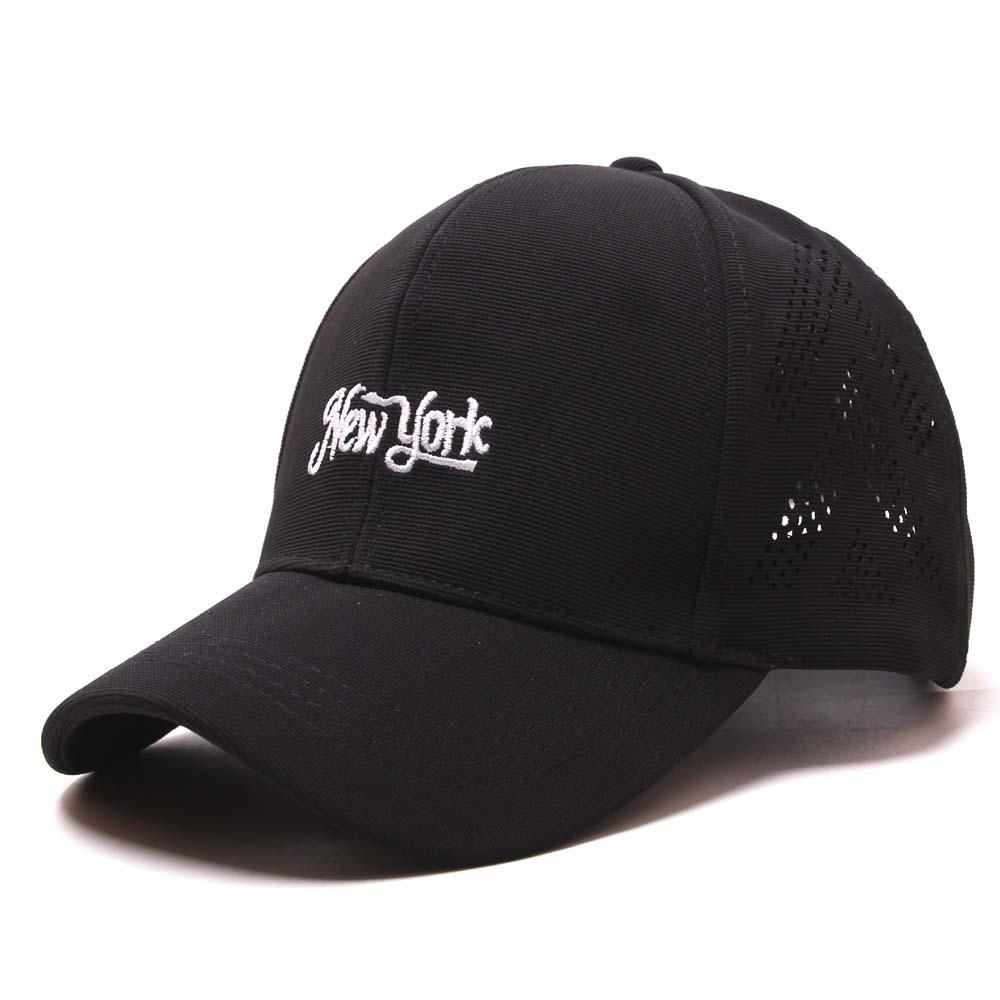 2020 New Style Lettered New York ricamato casuale Visiera Topee abbigliamento comodo Ventilazione traspirante Berretto da baseball
