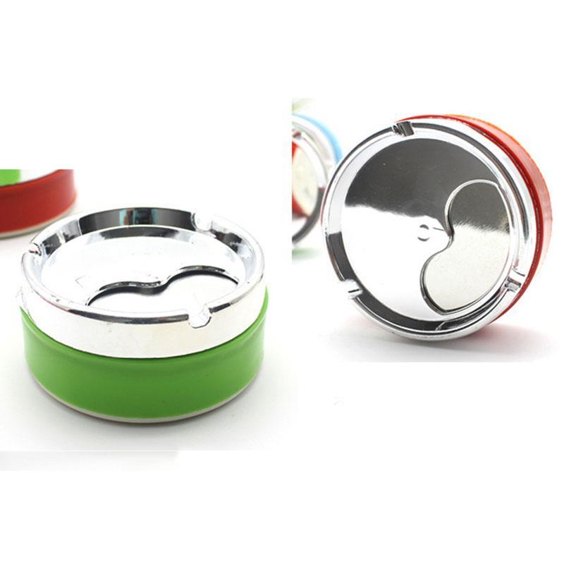 Posacenere colorato di grandi dimensioni regalo di promozione Posacenere rotondo di plastica con coperchio Home Office Coffee Shop Bar Posacenere da sigarette VT0973