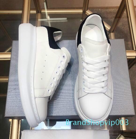 Classico superiore Mens modo dei pattini casuali della piattaforma di lusso del progettista delle donne Sneakers in pelle Aumento a piedi scarpe Trainer Des Chaussures