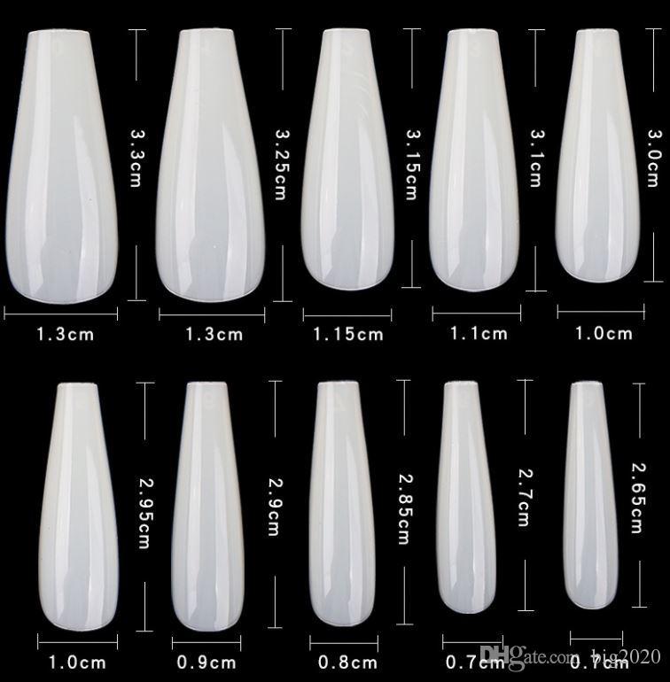 الساخنة بيع الأظافر الشفاف أضعاف مجانا مانيكير الفرنسية امتداد 3.3-2.65 سم مريحة غير مستساغ أوروبا وأمريكا نمط
