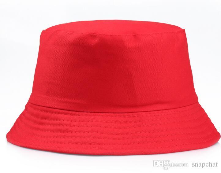 2020 Nouvelle arrivée chapeau de pêcheur Basin Hat Mode Hat Flat Top Sun Cap pur Caps rond en coton