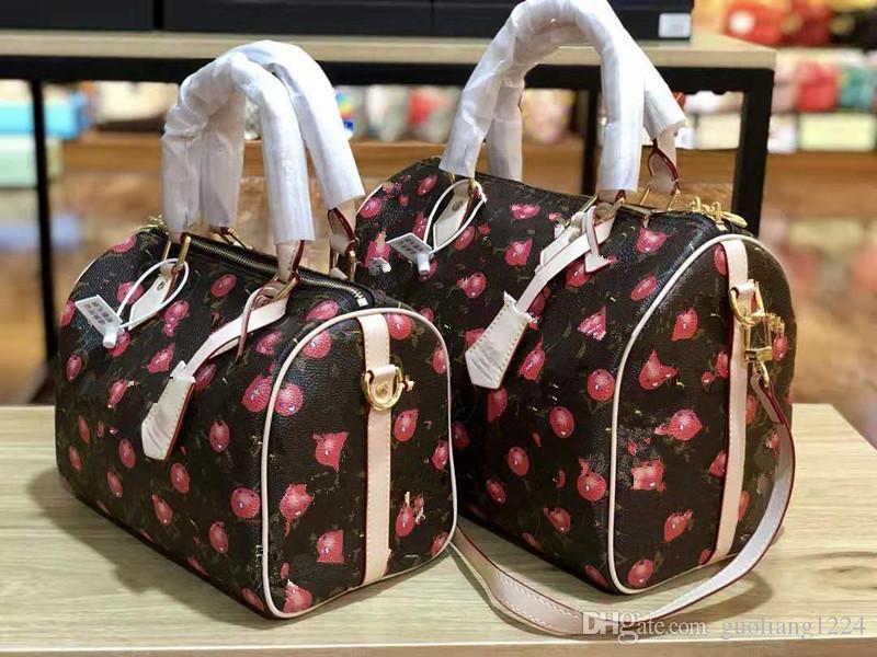 Женских кожаных моды Старого цветок Подушка склонного мешок плеча Leboy Сумочка дизайнер Роскошные сумки Рюкзаки Trend Joker Бостона