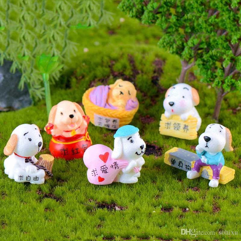 2020 Single Dog Cartoon Toys Accessories Resin Crafts Terrarium