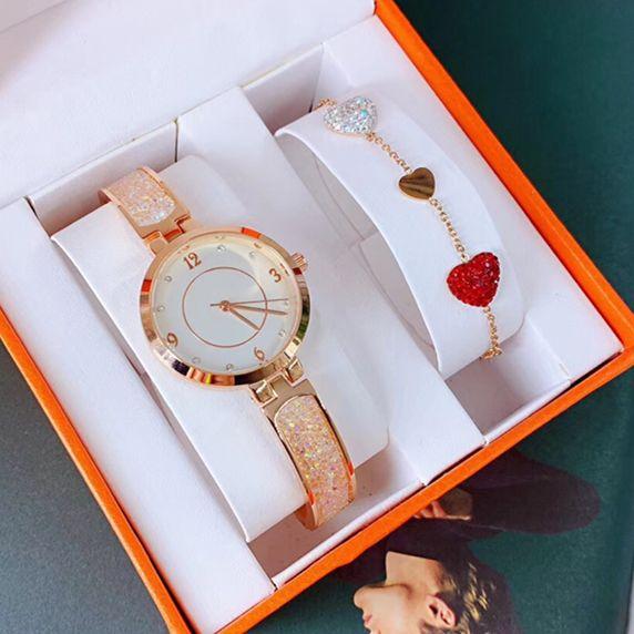 Yepyeni tasarımı Lady clock kuartz Çelik Bilezik Zinciri Lüks Shine elmas Kadınlar Elbise İzle Japonya Hareket damla nakliye