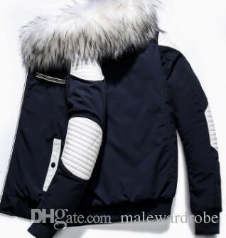 Autres hommes à capuche doudoune hiver épais poches chaudes à glissière conception manteaux vêtements