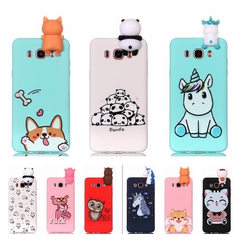 Etui For Samsung Galaxy J5 J510 Phone Case 3d Unicorn Panda Dog ...