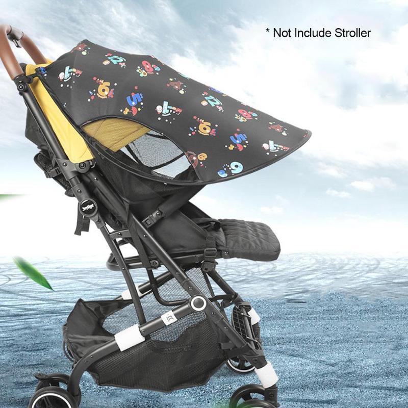 여름 아기 유모차 썬 쉐이드 천막 우산 캐노피 유모차 썬 쉐이드 선 스크린 천장 커버를 인쇄 넓히다