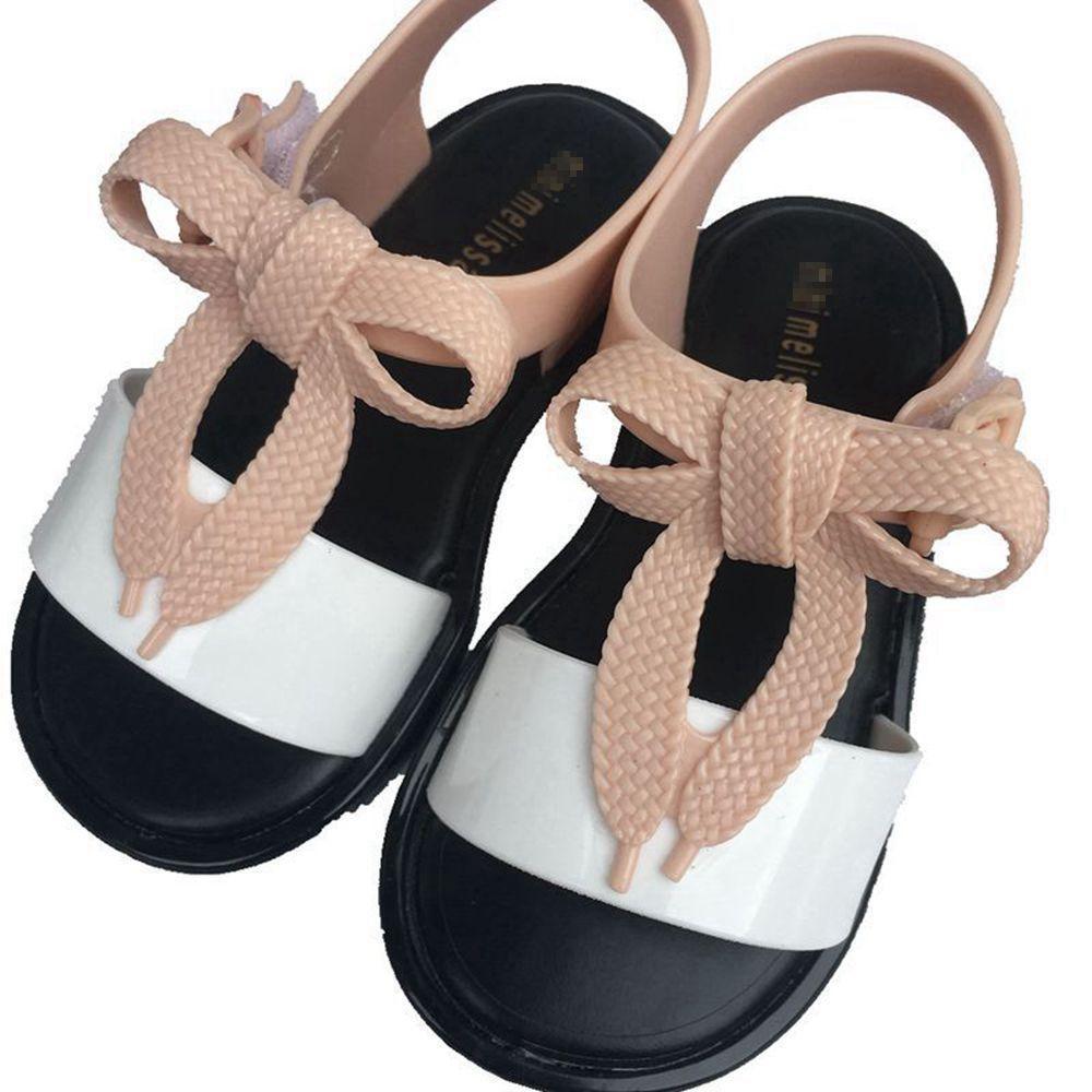 Hot Crianças Meninas Verão Novo Estilo Mini Menina Princesa Melissa Geléia Sapatos, Sapatos Antiderrapantes Sandálias Criança Sandálias de Praia