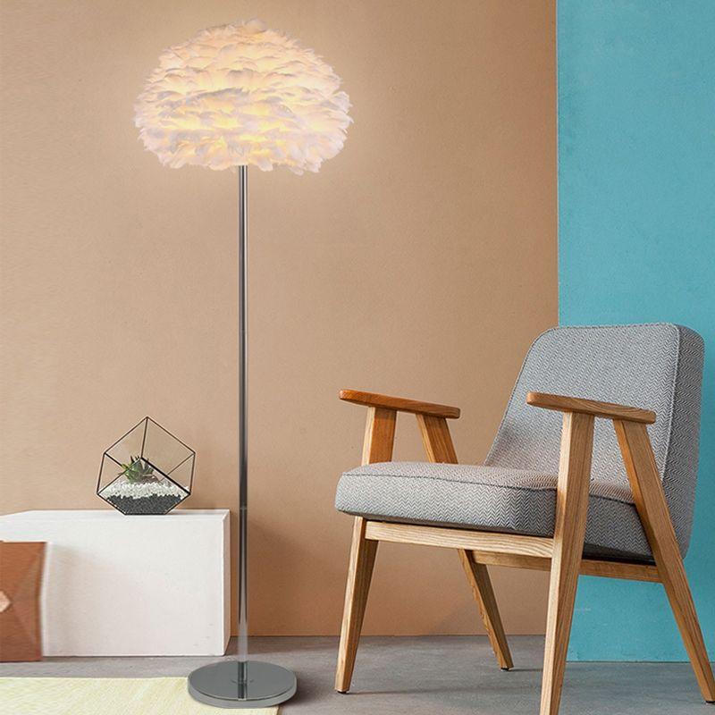 Moderne Feder Stehlampen für Wohnzimmer Stativ Led Stehlampe Schlafzimmer Home Loft Decor Nordic E27 Leuchten Leuchte