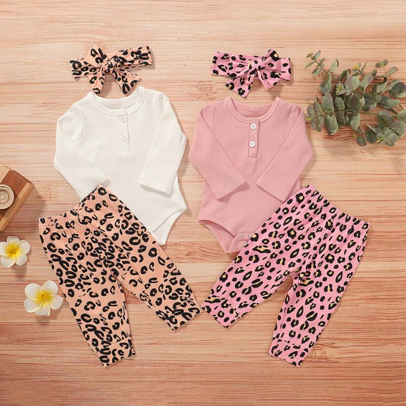 UK Newborn Infant Baby Girl Romper Jumpsuit Bodysuit alça roupa Outfit Set