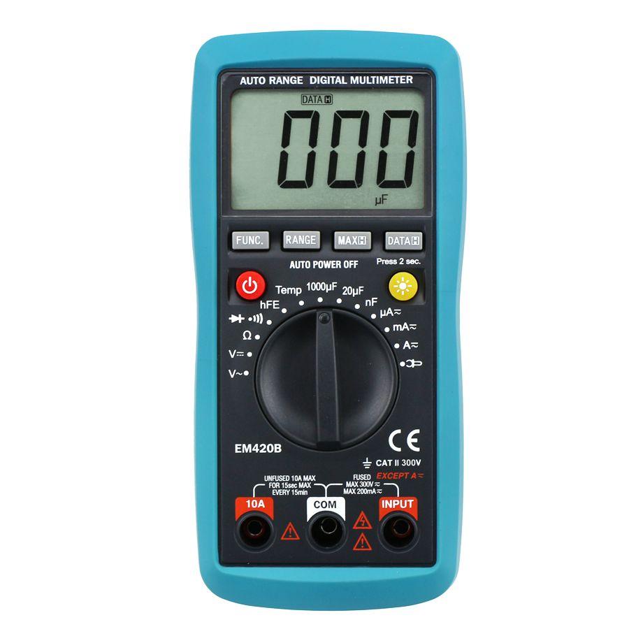 디지털 멀티 미터 AC DC 앰프 볼트 온도 다기능 테스터 OHM 테스트 전류 DMM MultiTest를 이상적인 악기 도구 모든 일 EM420B