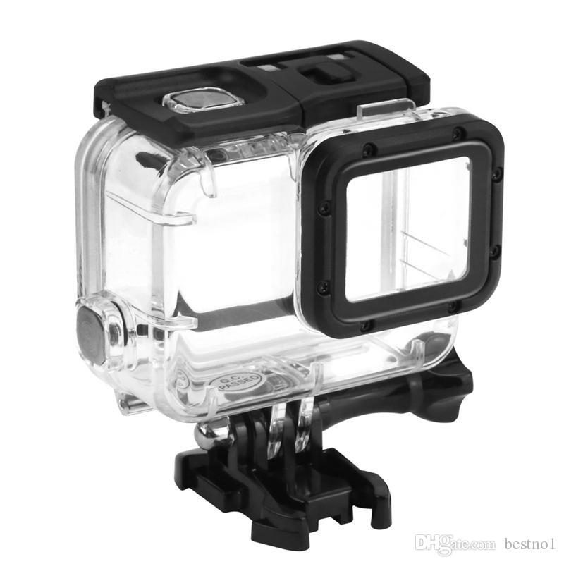 ( No Remove lens ) 45M Camera Waterproof Protective Case for Gopro Hero 8 7 black / silver / white /6 / 5 Acrylic Clear Waterproof Cover
