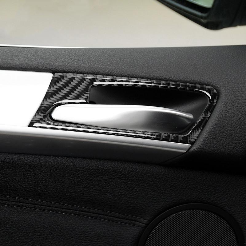 Innentürgriff Rahmenzierabdeckung Trim 4Pcs für BMW X5 E70 2008-2013 Carbon Fiber Car Styling Interieur Zubehör