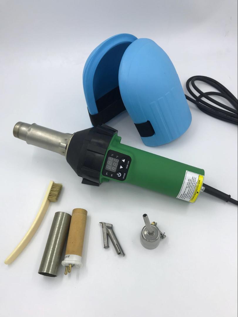1600W الرقمية لحام البلاستيك بندقية من البلاستيك لحام باليد بندقية الهواء الساخن الساخن الشعلة لحام الهواء لحام مسدس