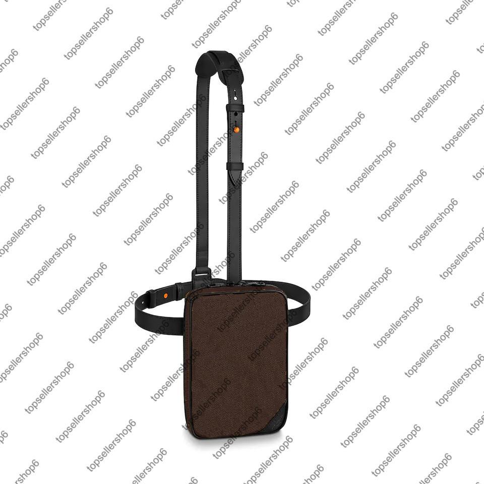 M44477 Утилита боковой сумка Мужчины Messenger Crossbody Сумки подлинной коровьей кожи дизайнер холст сумка на плечо сумка для талии
