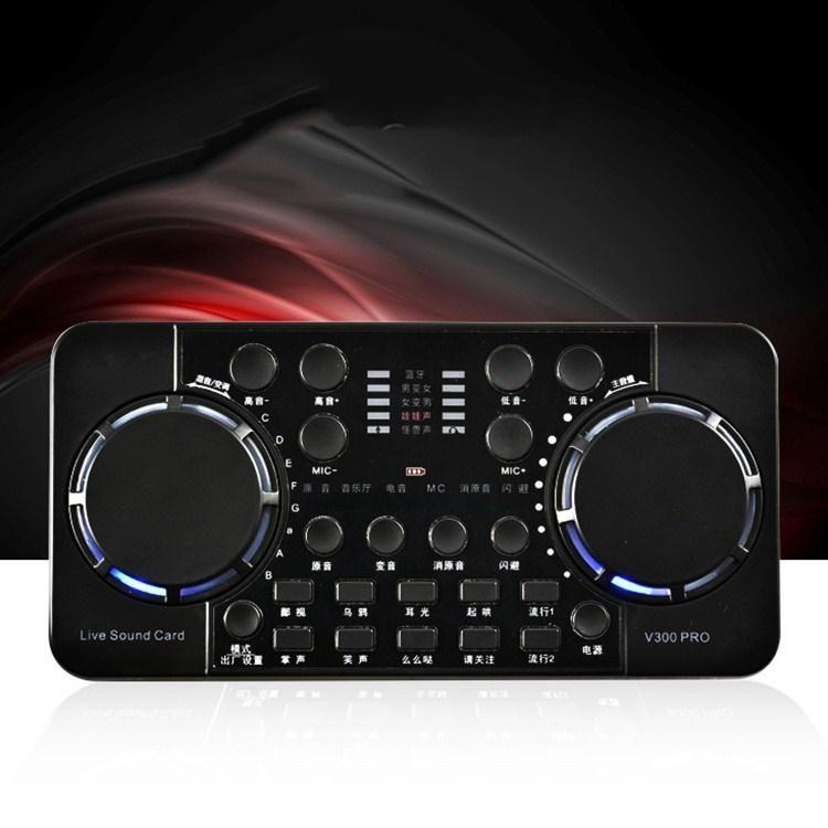 V300 Canlı Ses Kartı Cep Telefonu Bilgisayar Kaydı Ses Kartı Set Singing PRO