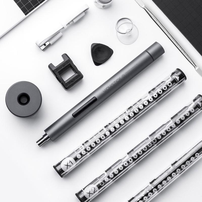 Xiaomi Youpin Oick 1F Plus-Minihand Akkuschrauber Präzisions-Magnet-Schraubendreher Werkzeug mit Universal-Multi-Bits Set