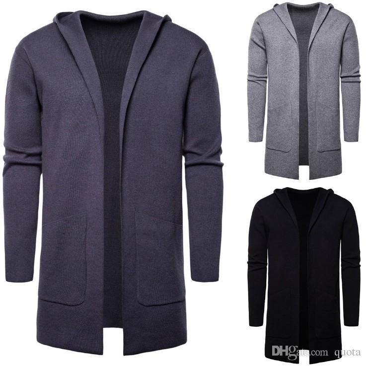 Hiver Pull Hommes Mode couleur unie Cardigan homme manches longues Pull Homme Réchauffez Tricot Vêtements Homme Automne Manches longues