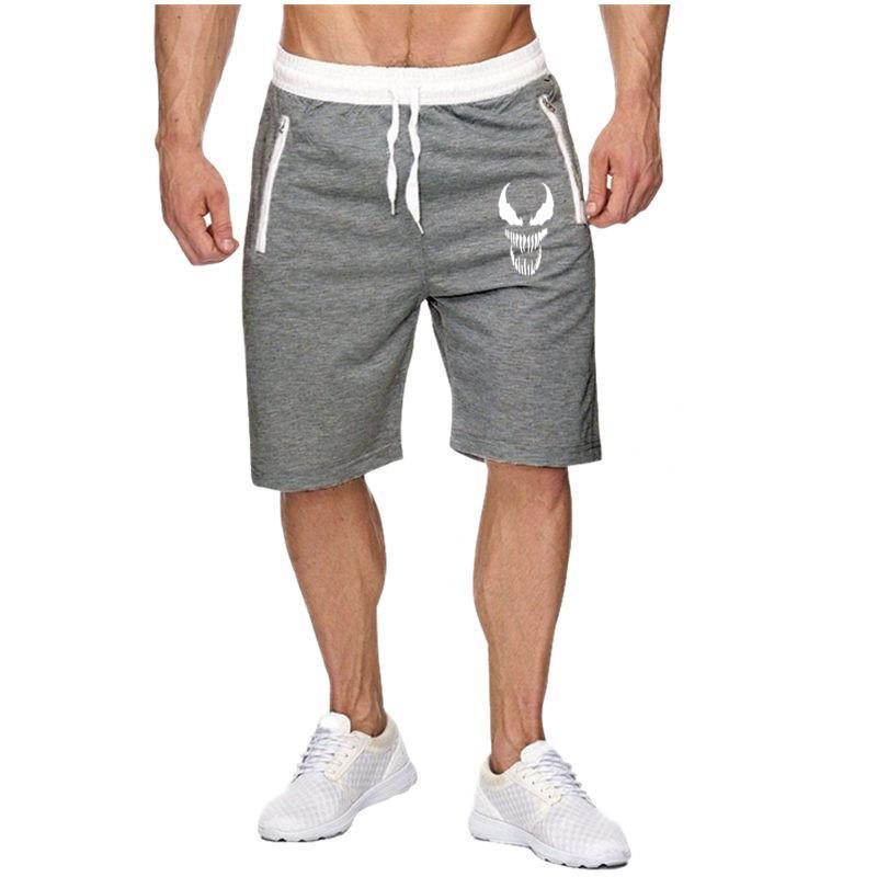 New Fashion Mens Cropped Sweatpants Outdoors Cotton Jogger Casual Venom Bodybuilding Shorts Men Summer Shorts