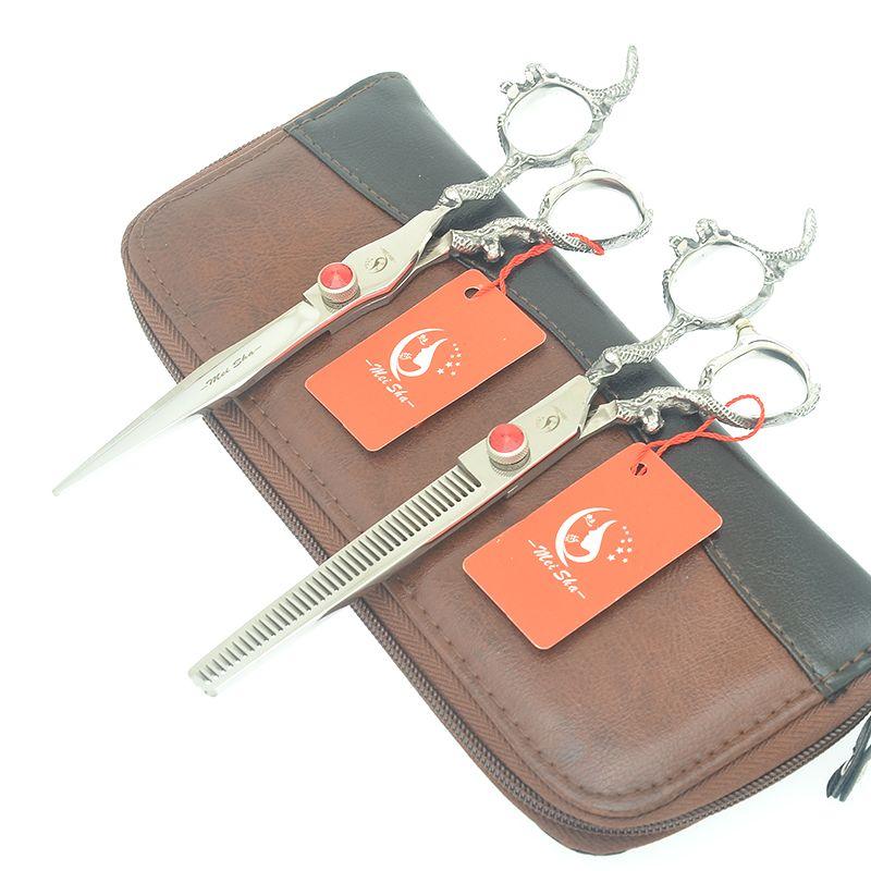 Meisha 7.0 Inch Big Professional Hair Scissors Pet Grooming Scissors Hairdressing Cutting Thinning Shears Hair Cut Tools HA0475
