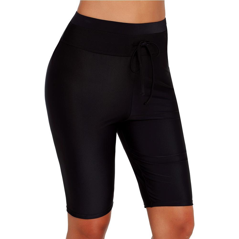 para mujer designerswimming troncos por el buceo boxeador negro Mar de surf de alta cintura cinco puntos de playa pantalones de yoga 410793